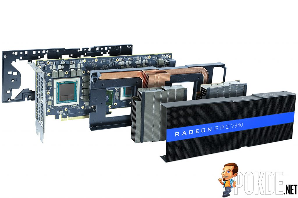 AMD crams two Vega GPUs into the Radeon Pro V340 — capable of handling up to 32 users per card! 21