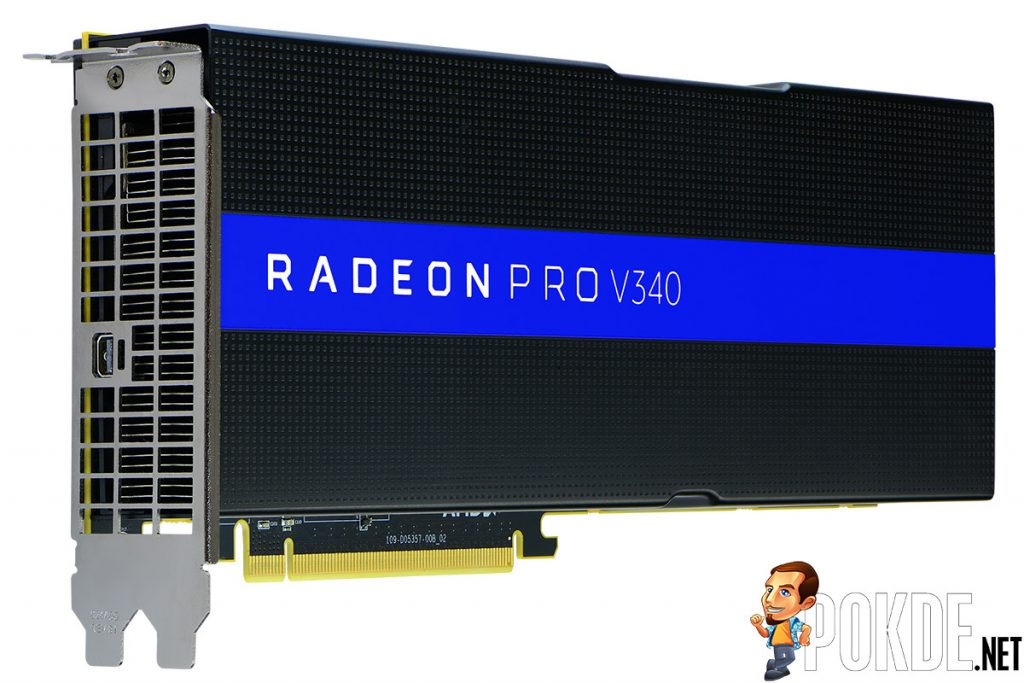 AMD crams two Vega GPUs into the Radeon Pro V340 — capable of handling up to 32 users per card! 22