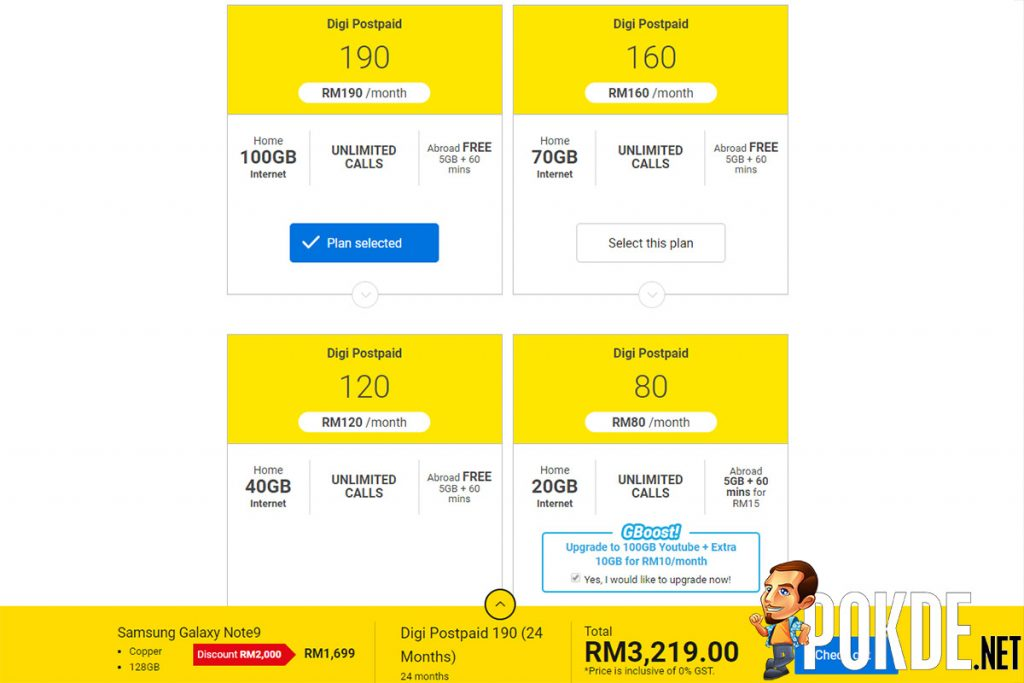 Samsung Galaxy Note9 available from Digi for just RM1699 — and would you like a second smartphone with that? 23