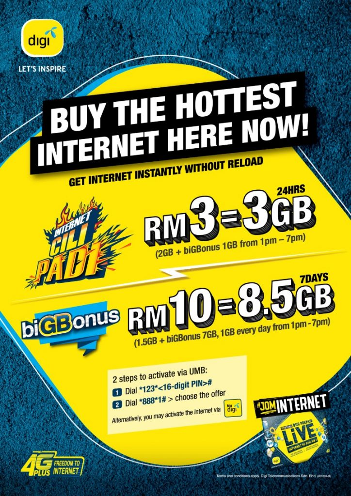 Digi Introduces New Data Reload For Prepaid Users 25