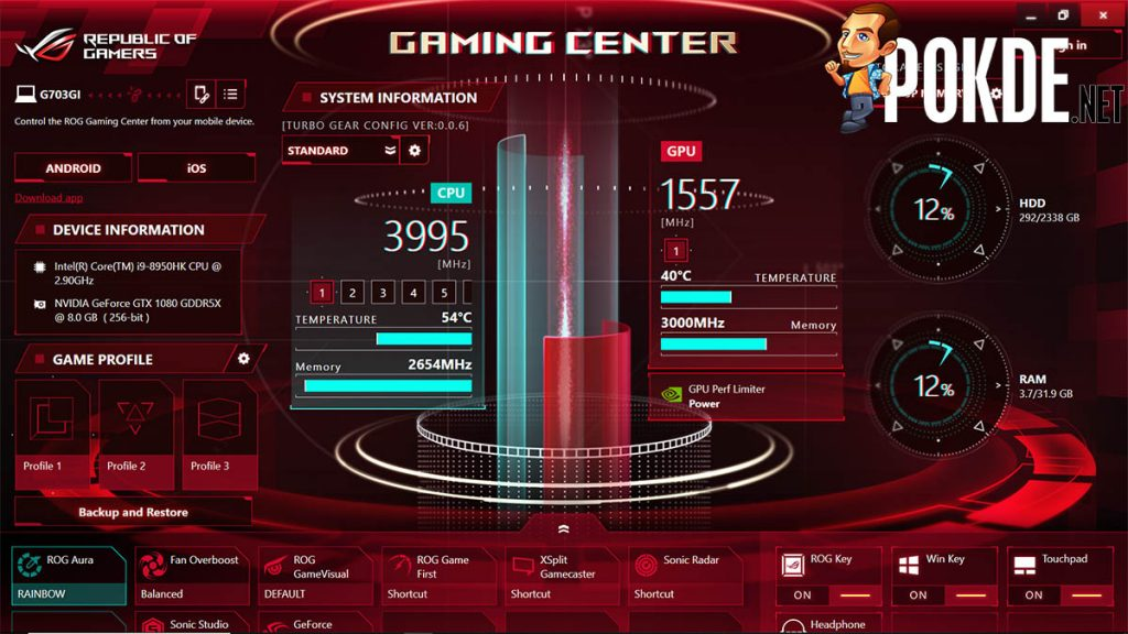 Don't send a featherweight to do a heavyweight's job — the ROG Chimera G703 makes zero sacrifices on performance 19