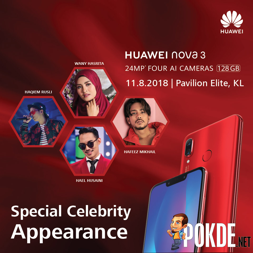 Come in red to get the HUAWEI nova 3 red — get freebies worth over RM1000! 18