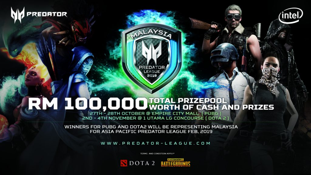 Acer To Host Asia Pacific Predator League 2019 — Qualifiers for Dota 2 and PUBG To Come 19