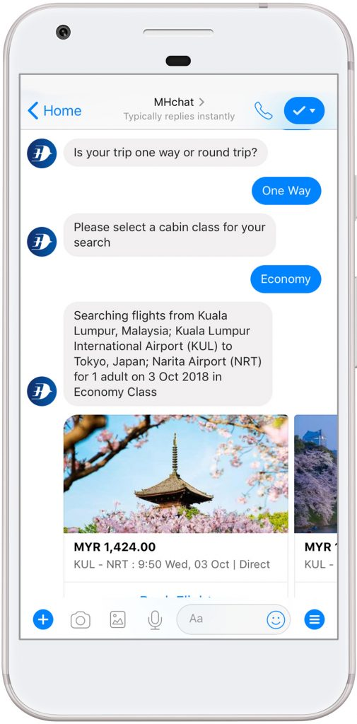 Malaysia Airlines Teams Up With Amadeus — You can now book flights with your Facebook Messenger 20