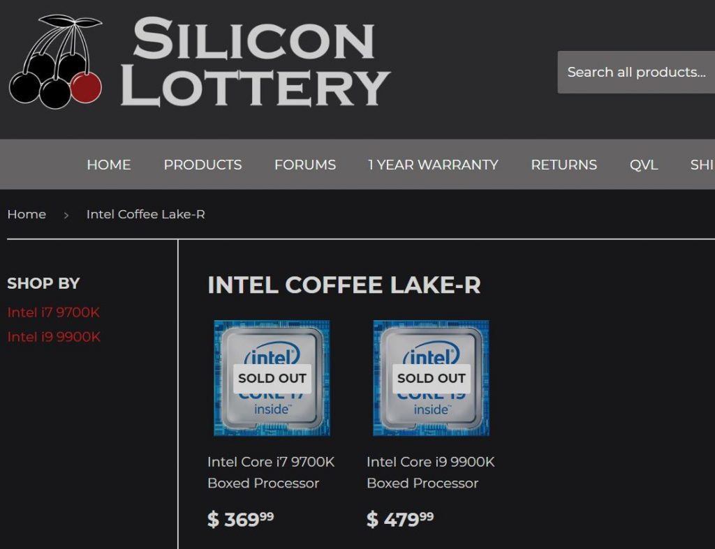 Intel Core i9 9900K pricing spotted online — about RM410 more for an additional 2C/4T 20