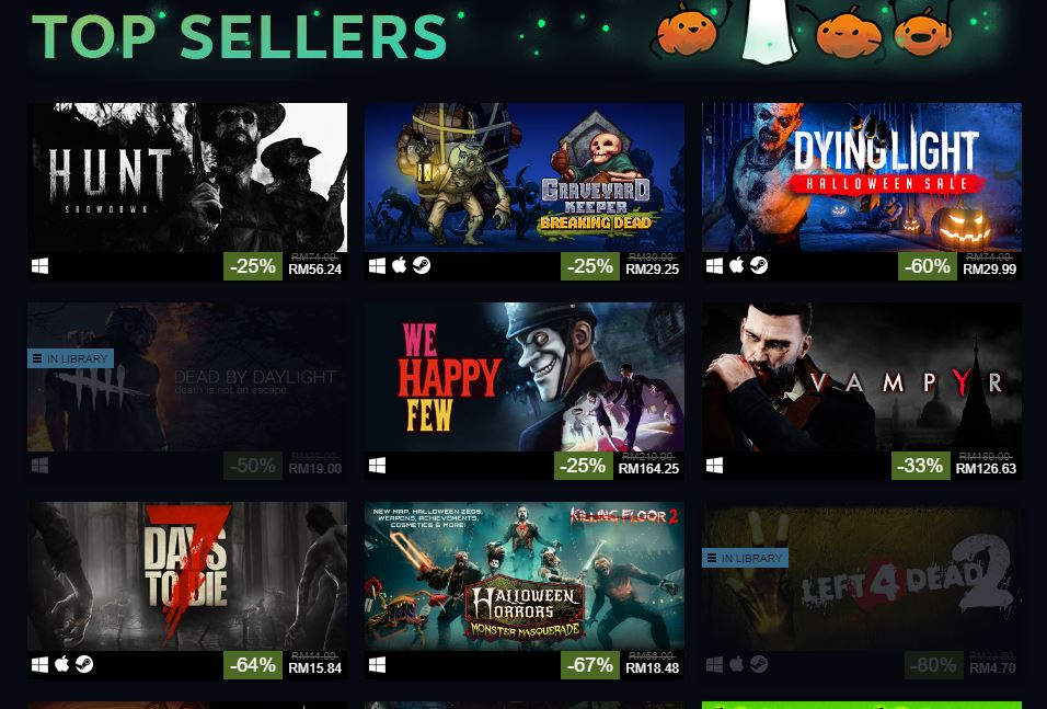 Steam Halloween Sale 2018 Is Now Live - Great Discounts on Games