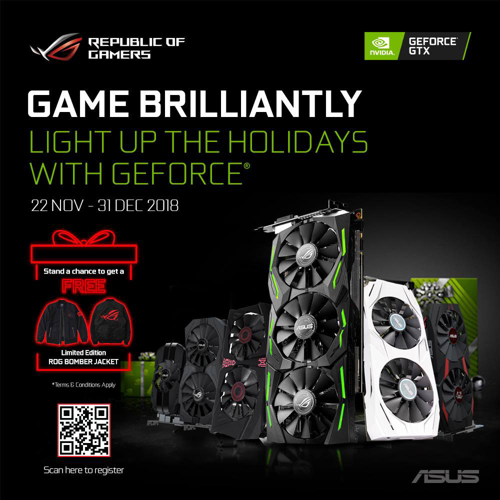 Get an exclusive Limited Edition ROG Bomber Jacket with these selected ASUS GeForce graphics cards! 22