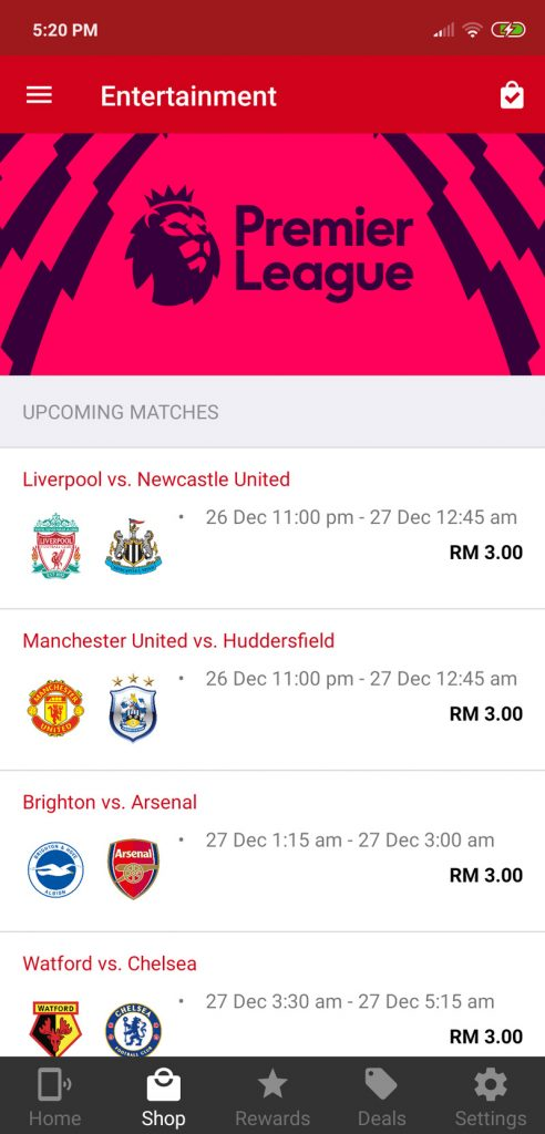 Watch Premier League Matches On Your Smartphone For Just RM3 With Hotlink 21