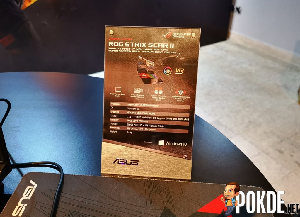 ASUS ROG Strix SCAR II GL704 Launched in Malaysia