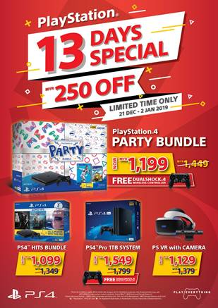 Sony's 13 Days Special Gives You RM250 Discount for PlayStation 4 Hardware 24