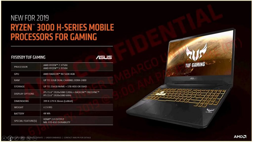 [CES2019] 2nd-Gen AMD Ryzen 3000 mobile processors are here — new 35W TDP variants introduced as well! 23