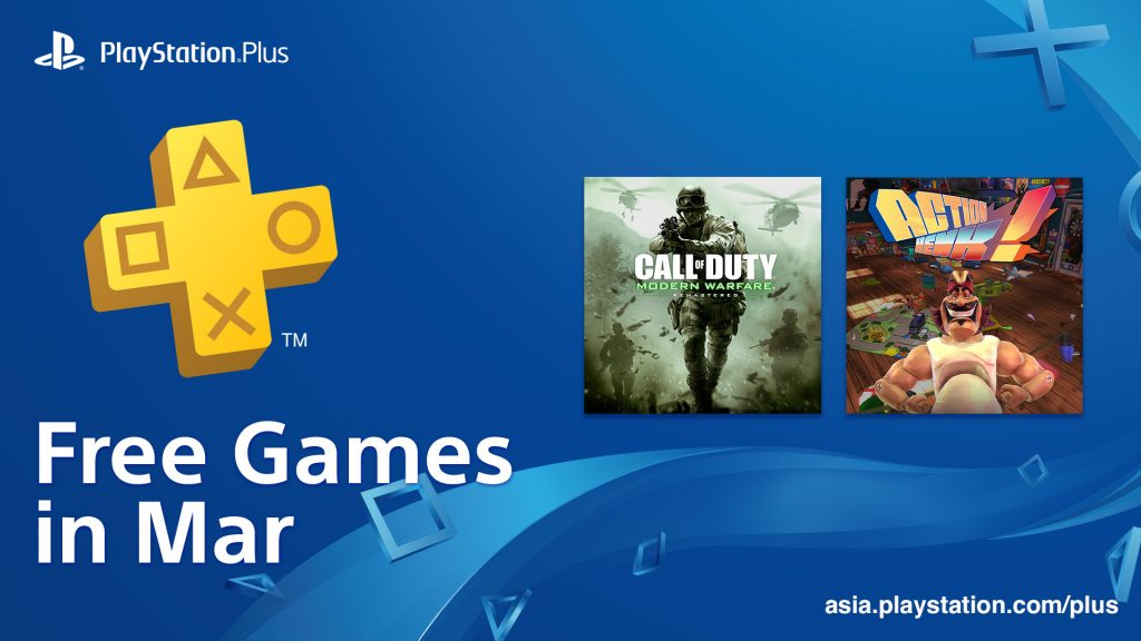PS Plus Asia March 2019 Free Games Lineup