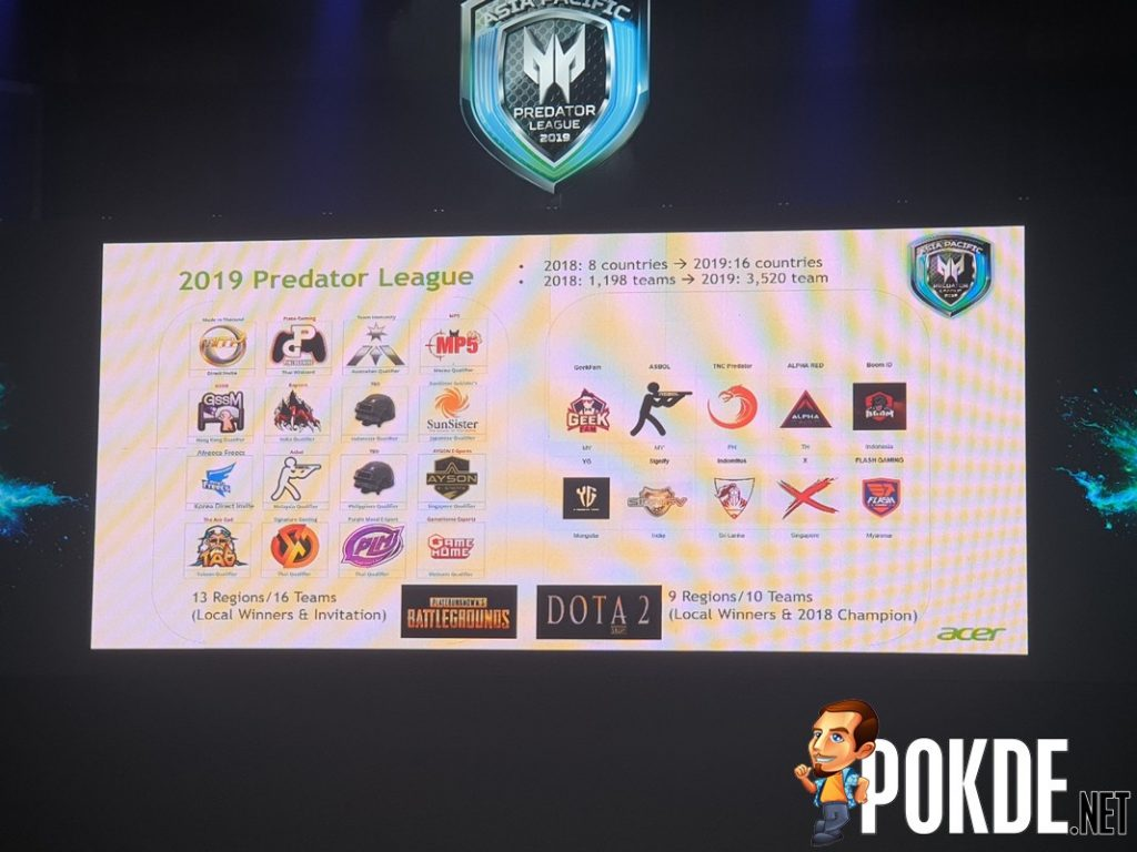 [Predator League 2019] ACER Predator League 2019 for Asia Pacific Officially Announced – 26 teams will be playing DotA2 and PUBG 24