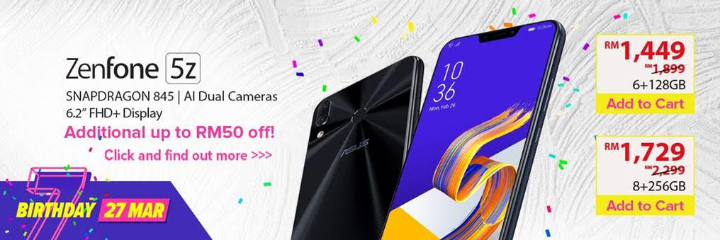 Get Your ASUS Smartphones And Laptops This Lazada 7th Birthday Promo Sales 30