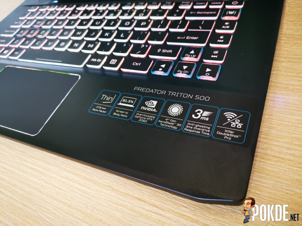Acer Predator Triton 500 RTX Specifications for Malaysian Market