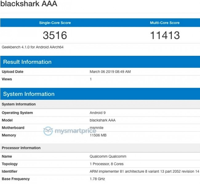 Black Shark 2 Listed On Geekbench — Coming With Latest Snapdragon 855 With 12GB RAM 20