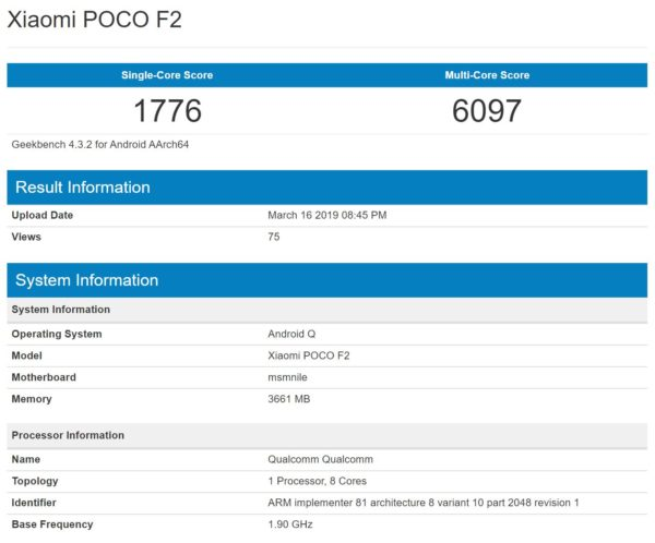 Poco F2 Gets Listed On Geekbench — Runs On Qualcomm Snapdragon 855 21