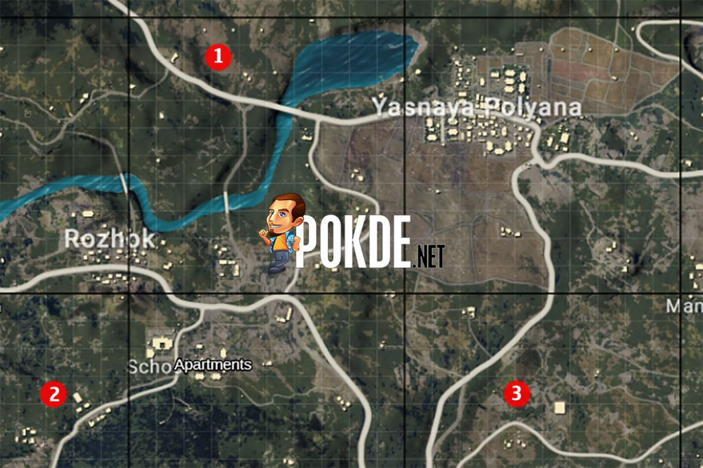 Where to find the Raccoon Police Department in PUBG Mobile? 30