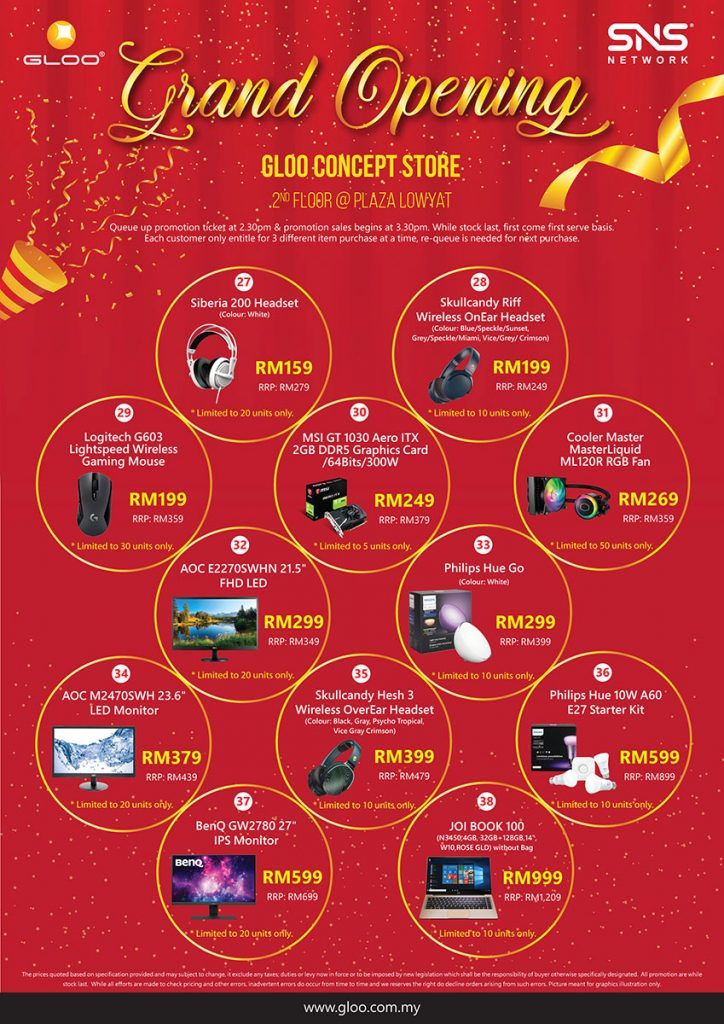Get up to 95% off gadgets at the Grand Opening of GLOO Concept Store! 28