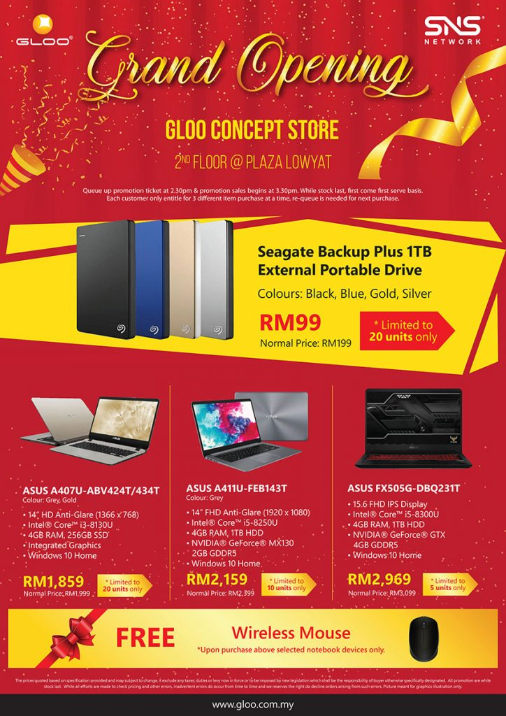 Get up to 95% off gadgets at the Grand Opening of GLOO Concept Store! 26