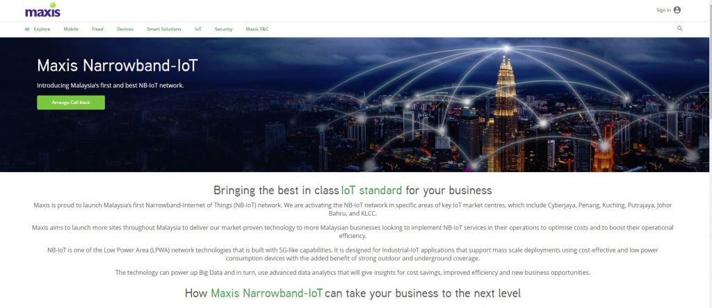 Maxis is Launching Malaysia's First Narrowband-IoT Service (NB-IoT)