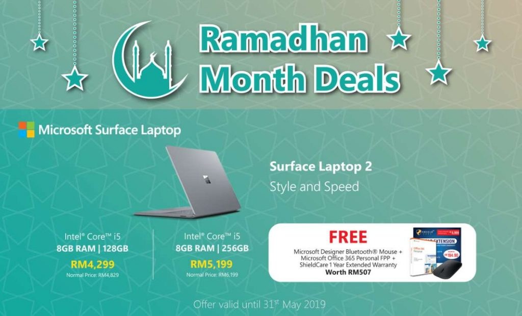 Get the Microsoft Surface Laptop 2 with RM1000 discount and RM507 worth of freebies 26