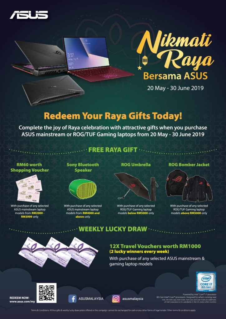 Nikmati Raya Bersama ASUS Campaign Kicks Off — Free Gifts And Weekly Lucky Draws On Offer! 24