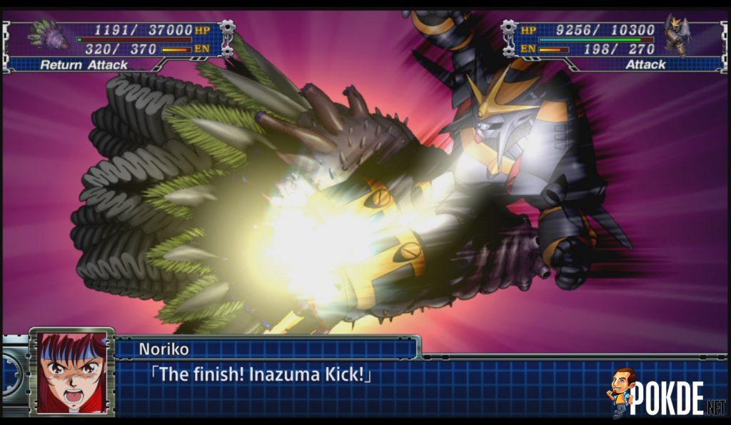 Gunbuster and Its Inazuma Kick Attack