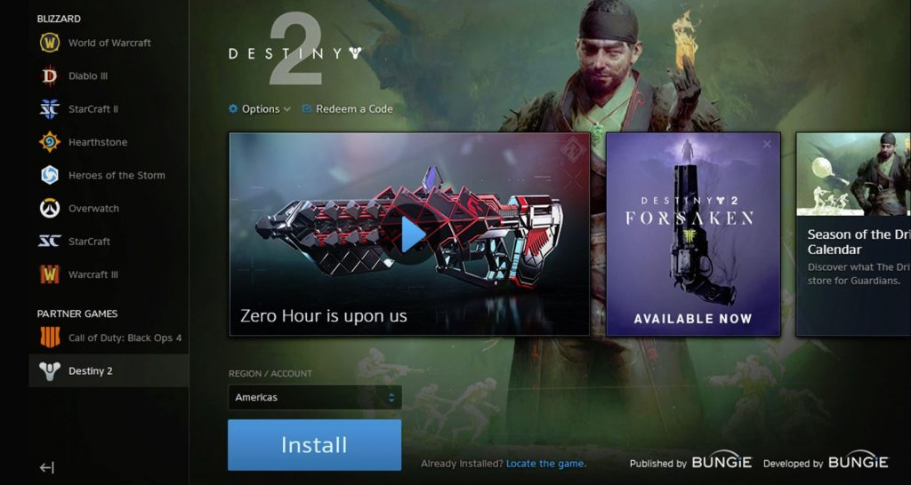 Activision Removed from Credits for Destiny 2 in Battle.net