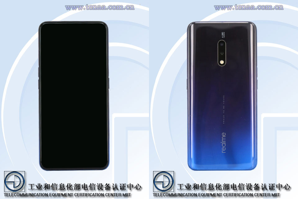 realme X specs and design leaked on TENAA 25
