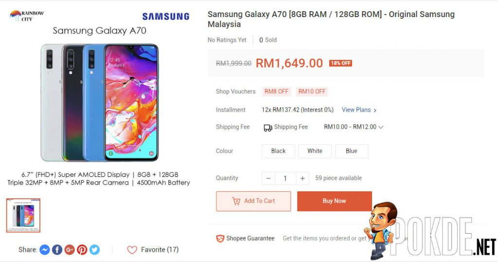 Samsung Galaxy A70 offered for RM350 less than SRP just days after arriving in Malaysia 23