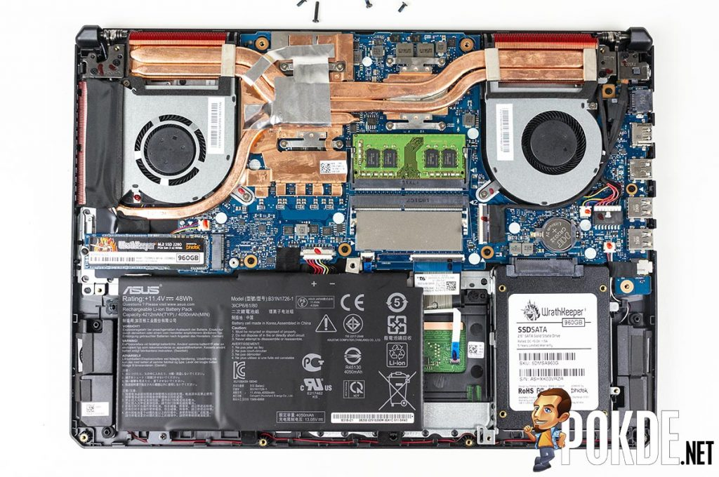 What can you upgrade in the ASUS TUF Gaming FX505D? 26
