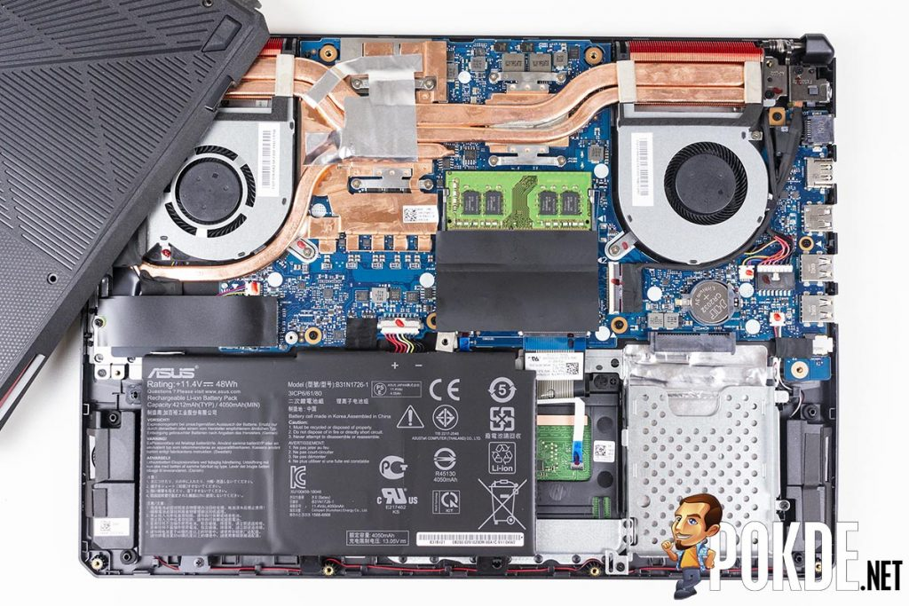 What can you upgrade in the ASUS TUF Gaming FX505D? 24