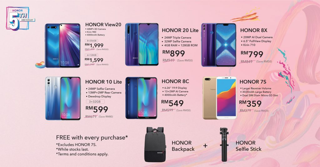 HONOR 5th Anniversary Sale Starts Tomorrow — HONOR View20 Cheaper By RM500 25