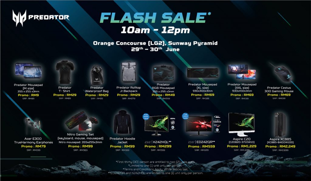Acer Predator To Host Flash Sale With More Than 70% Discounts From 29 To 30 June 26