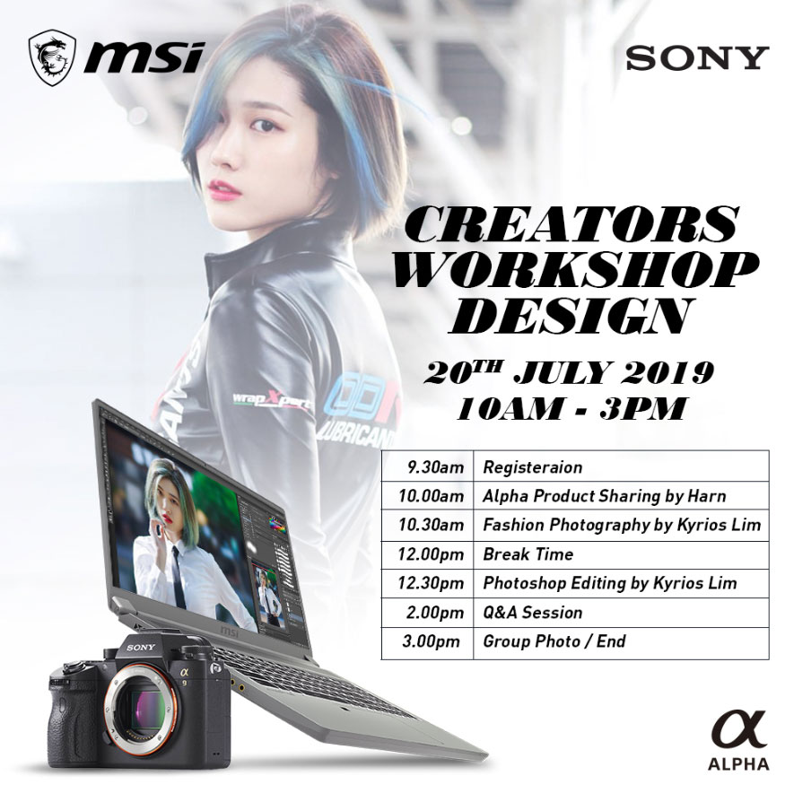 Up your photography game at the MSI x Sony Creator Workshop 27