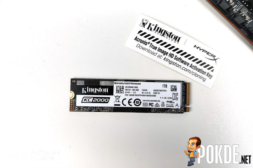 Kingston KC2000 M.2 PCIe NVMe 1TB SSD Review 22