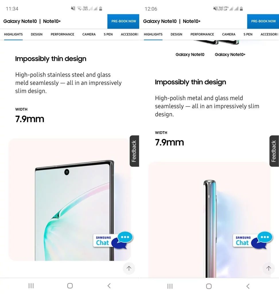Samsung did an oopsie — the Samsung Galaxy Note10 is not made of stainless steel 20