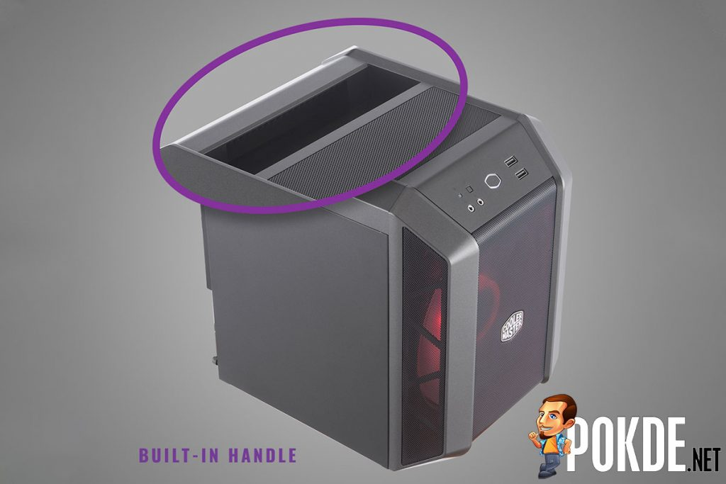 The Cooler Master MasterCase H100 is a MasterCase H500 shot with a shrink-ray 30