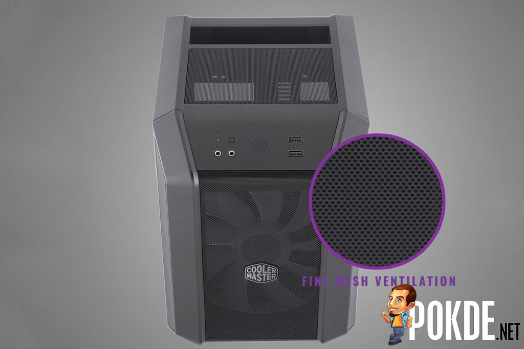 The Cooler Master MasterCase H100 is a MasterCase H500 shot with a shrink-ray 22