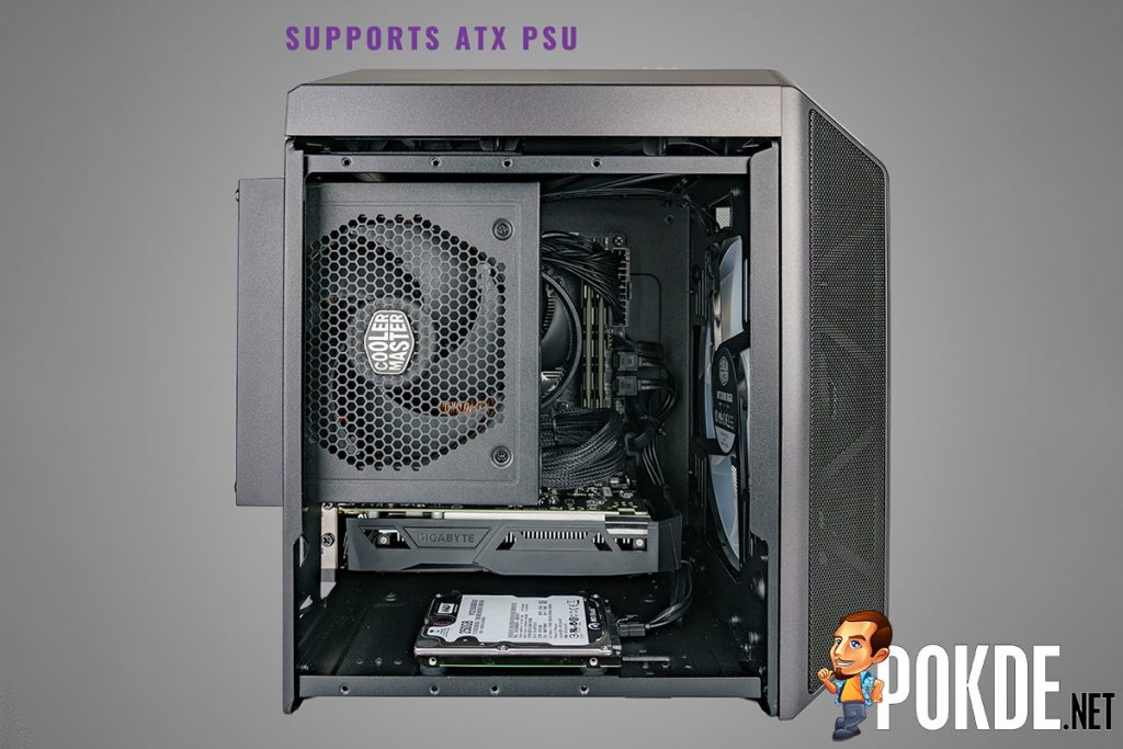 The Cooler Master MasterCase H100 is a MasterCase H500 shot with a shrink-ray 29