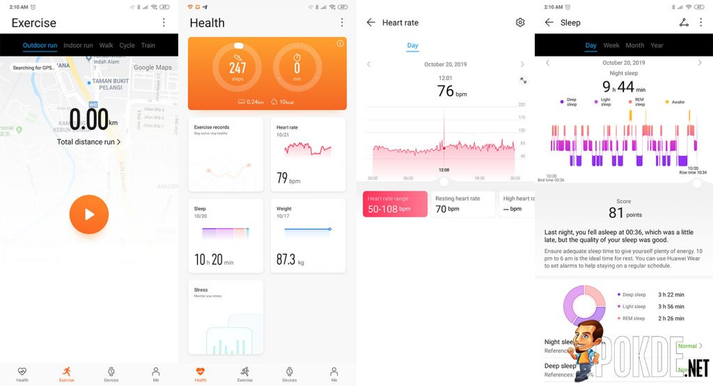 HONOR Band 5 review huawei health fitness tracking
