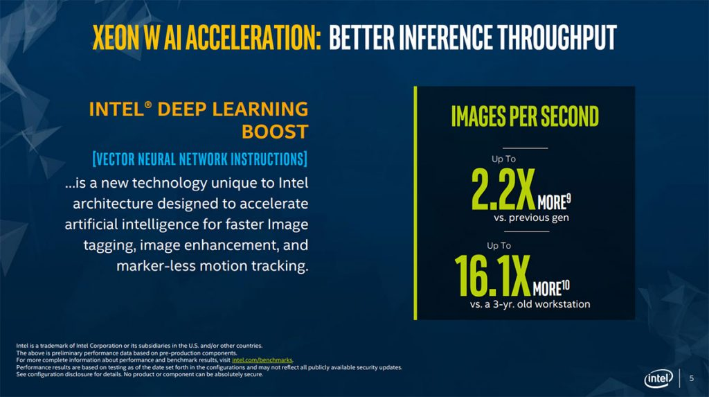 Intel refreshes workstation lineup with Xeon W-2200 series 28