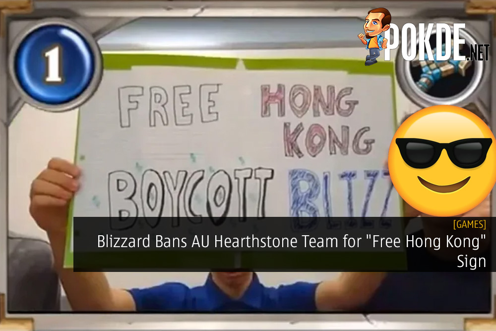 "Blizzard Bans AU Hearthstone Team for ""Free Hong Kong"" Sign"