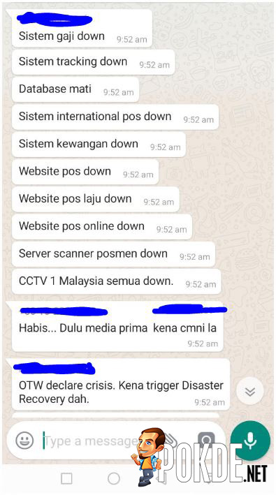 POS Malaysia site is down, possibly a ransomware attack 25