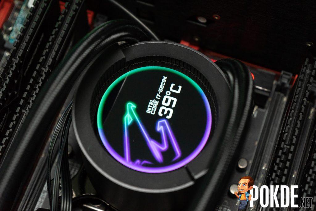 gigabyte aorus liquid cooler 240 display