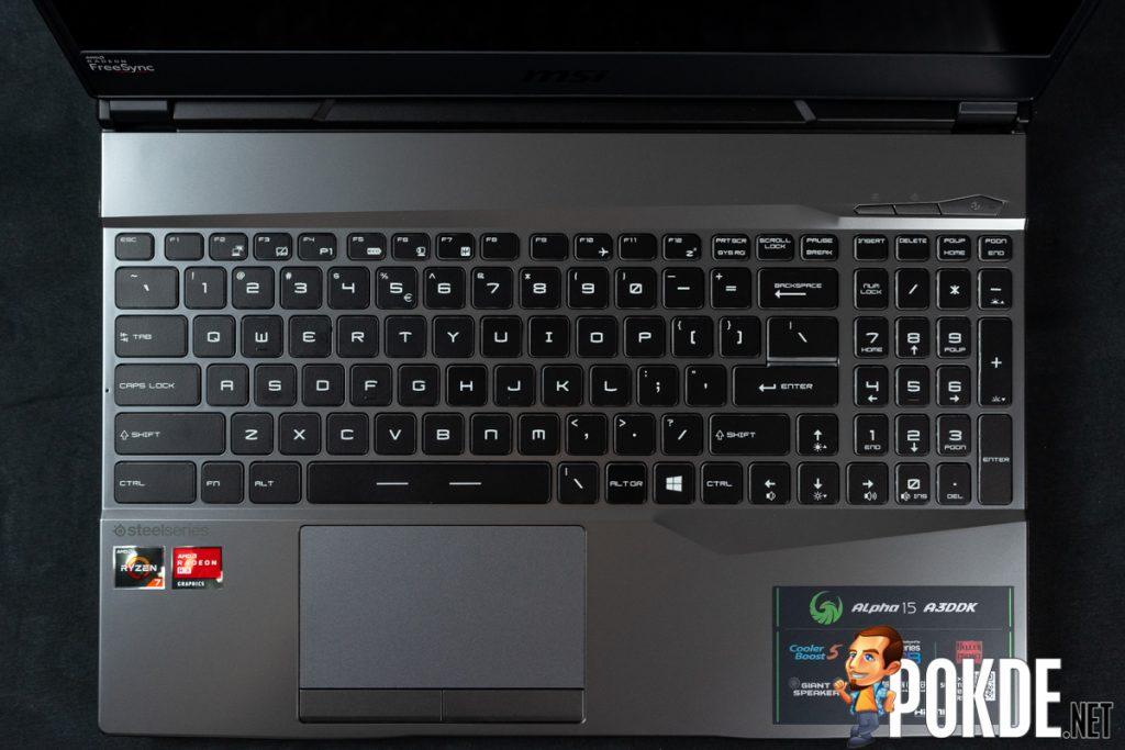 msi alpha 15 keyboard