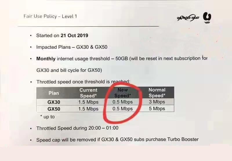 u mobile gx30 gx50 fup fair usage policy