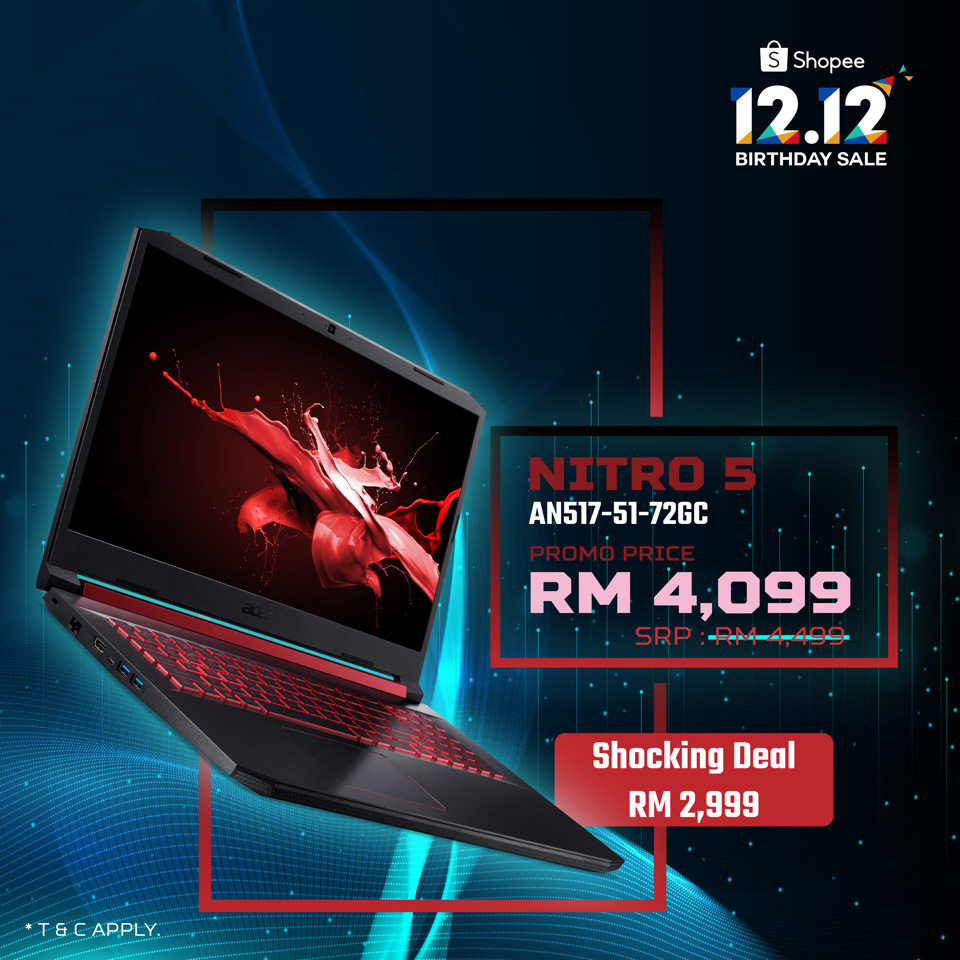 Acer 12.12 Sales Sees GTX 1650 Gaming Laptop At Just RM2,999! 22