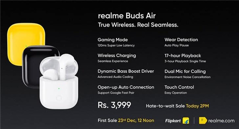 realme Introduces Buds Air True Wireless Earphones At ~RM233 24